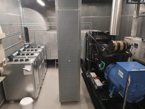 Installation de 2 groupes électrogènes à la COUR DE JUSTICE DES COMMUNAUTÉS EUROPÉENNES (CJ9)